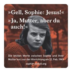 Zitat Sophie Scholl